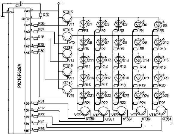 светодиодной матрицы