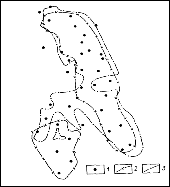 1 – разведочные скважины;